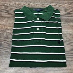 Polo Ralph Lauren Green Stripe Polo Shirt L